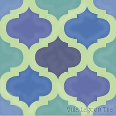 """Salamanca"" Moorish style cement tile rendered in custom colors. 