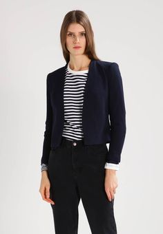 Vero Moda VMVICTORIA - Blazer - navy blazer for with free delivery at Zalando Fabric Material, Navy, Chic, Women's Blazers, Model, Cotton, How To Wear, Jackets, Clothes