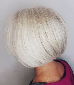Perfect Blowout for White Bob Short Grey Hair, Short Hair With Layers, Short Wavy, Over 60 Hairstyles, Bob Hairstyles, Everyday Hairstyles, Formal Hairstyles, Braided Hairstyles, Wedding Hairstyles