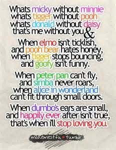 This is definitely getting printed and hung in our home! Best quote ever! Yes, great quote, love it, but you misspelled Mickey and used Elmo on a board of Disney quotes... um