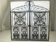 A PAIR OF GATES      A PAIR OF GATES GENERALLY MADE TO ORDER TO YOUR      DIMENSIONS. THE GATES SHOWN ARE  6   (150mm)HIGH AND EACH GATE IS 3   (75mm) WIDE   LET US HAVE THE SIZES AND WE WILL SEND YOU A QUOTE