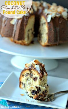 Coconut Chocolate Chip Pound Cake: a new spin on a family classic my mom has been making for 30+ years! #dessert #chocolate #coconut