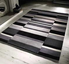 Jazz - Blocks Charcoal Rugs | Modern Rugs