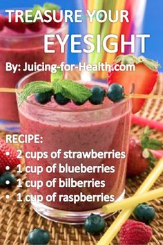 Treasure Your Eyesight — Juicing For Health