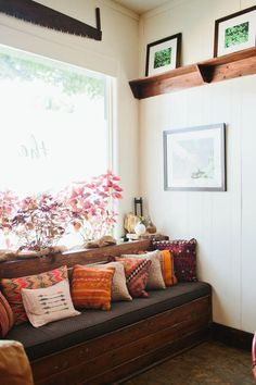 cozy bench nook