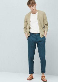 Chino cotone lino | MANGO MAN