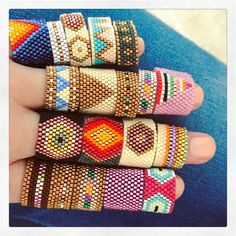 "472 Likes, 14 Comments - Carmen & Julia Joyas Tejidas (@carmenyjulia) on Instagram: ""ring party #theartofmaking #sacred #bauhaus #crafts #statementearrings #weave #handmade…"""