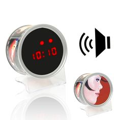 [USD5.81] [EUR5.54] [GBP4.38] Sonic Induction Mirror Clock / Small Round Drum Mirror Clock / Wonderful Mirror Clock