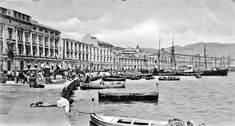 La Palazzata a fine '800 Messina, Louvre, Building, Travel, Vintage, Porto, Voyage, Trips, Buildings
