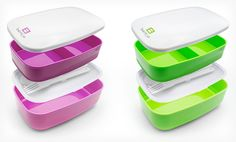 Set of 2 Bentgo All-in-One Stackable Lunchboxes Deal of the Day | Groupon