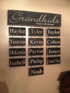 Personalized Carved Wooden Sign Grandkids Make by HayleesCloset
