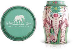 Elephant tea tin