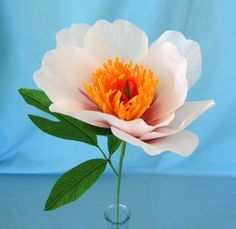 Follow along as I learn how to make a crepe paper tree peony flower from Lynn Dolan of Castle in the Air.