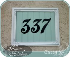 I know I have a picture of what the house numbers looked like when we bought the house... I will find it and add it later. But it was bad, ...