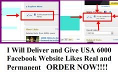 traffic_solo: deliver and Give USA 6000 Facebook Website Likes Real and Permanent for $5, on fiverr.com