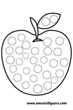 Preschool Learning Activities, Preschool Worksheets, Toddler Activities, Preschool Activities, Letter A Coloring Pages, Do A Dot, Apple Theme, Coloring Pages For Kids, Preschool Coloring Pages