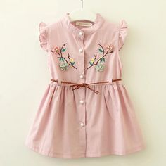 Cheap Dresses, Buy Directly from China Suppliers:Bear Leader Baby Dresses 2018 New Summer Baby Girls Clothes Flowers Embroidery Princess Newborn Dresses With elt For Frocks For Girls, Kids Frocks, Dresses Kids Girl, Baby Dresses, Dresses For Babies, Kids Cotton Frocks, Baby Girl Frocks, Cute Little Girl Dresses, Summer Dresses