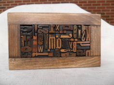 Letterpress Antique Wood Type Graphic Design Very Tiny Type Mixed Fonts Sweet