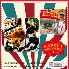 Parque infantil, localizado no shopping Downtown, na Barra da Tijuca, que se firma como uma excelente opção para quem procura a essência  dos parquinhos antigos. São diversas opções de brinquedos tradicionais, em um ambiente amigável e seguro. Gostou? Então vem curtir! Compre agora: www.ingressocomdesconto.com.br Televendas: (0xx11) 4412-5454