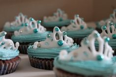 Cinderella tiara cupcakes ($3ea) by Maryam's Kitchen, via Flickr. I like them because everything is edible.