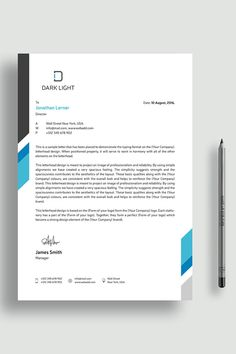 A Great Corporate Simple Letterhead Template for your Business. This Simple Letterhead is a set of 3 popular color.This Simple Professional Letterhead is made Professional Letterhead, Letterhead Business, Business Card Design, Creative Business, Stationery Business, Company Letterhead Template, Free Letterhead Templates, Design Templates, Stationery Design