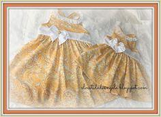 EL VESTIDO DE ÁNGELA: Vestidos amarillos para MªJesus y Rocío