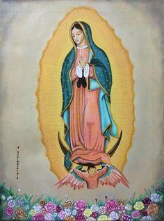 Vendido, virgen de Guadalupe, oil paint, México, Veracruz, tlacotalpan by Jorge D. Espinosa