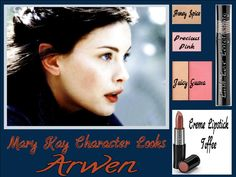 Get this simple yet elegant look based from Arwen in the movie series LOTR. Using Mary Kay's Mineral eye colors Honey Spice and Precious Pink. Add a hint of color to your cheeks with our Juicy Guava combo. Mary Kay's Lash Love Lengthening Mascara and our Creme Lipstick in Toffee will beautifully finish off this look. Go to www.marykay.com/micamunford to order today!