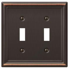 Hampton Bay Chelsea 2 Toggle Wall Plate - Aged Bronze at The Home Depot - Mobile