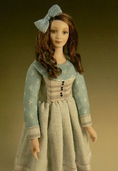 1:12 Scale Alice in Wonderland Dollhouse Doll