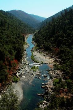North Fork American River, California  Of all the places I have been in California this would be my favorite. We were  winding down a gravel road and all of a sudden...we see this. Except we were at river level. Gorgeous!