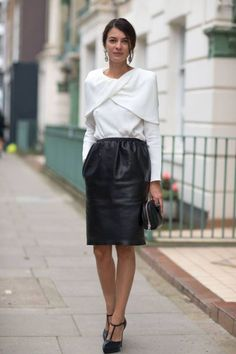 www.prontaevestida.com preto branco black white street style fashion looks