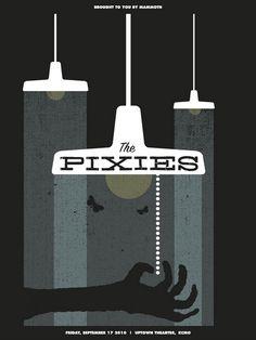 The Pixies concert poster by Vahalla Studios