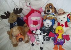 Lot Stuffed Animal Plush Aarons Lido Canada Musical NASA Finland Moose Monster | eBay