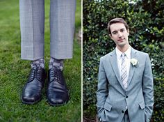 gray suit for the groom