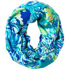 Lilly Pulitzer Lilly Pulitzer Riley Infinity Loop - Wade And Sea ($68) ❤ liked on Polyvore featuring accessories, scarves, tube scarf, lilly pulitzer, circle scarf, round scarves and print scarves