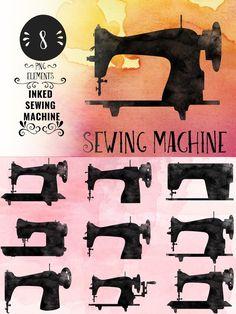 Inked Sewing Machine. $4.00