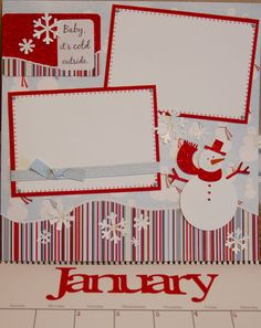 January layout...pre-make calendar pages for 2015, add photos after month is over?
