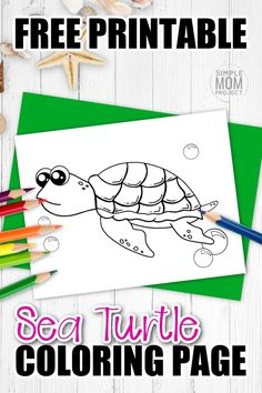 Are you looking for a baby sea turtle coloring page? This free to print cartoon turtle is perfect for kids of all ages including preschoolers, kindergartners and toddlers. You can use this free turtle template to teach your kids about the letter T or by starting your own ocean animal coloring book. Print yours now! #Seaturtlecoloring #turtlecoloring #Oceananimalcoloring #SimpleMomProject Turtle Coloring Pages, Mandala Coloring Pages, Animal Coloring Pages, Coloring Books, Turtle Facts For Kids, Cute Turtle Drawings, Sea Creatures Crafts, Cute Baby Turtles, Turtle Book