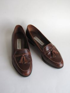 Vintage Etienne Aigner Brown Leather Penny Loafers