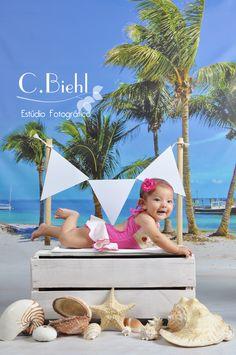 Ensaio de bebê - Porto Alegre - C.Biehl Estúdio Fotográfico - fotografia de bebê, fotografia de recém-nascido, newborn photography, summer, cenário de verão www.cbiehl.com.br