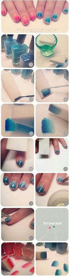 Ombra nails