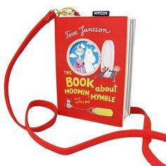 House of Disaster Muumi kirjalaukku, punainen Moomin Books, Moomin Shop, Disaster Designs, Tove Jansson, Red Shoulder Bags, Paper Plane, Little My, Book Crafts, Briefcase
