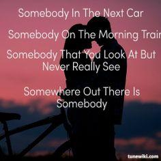 "-- #LyricArt for ""Somebody"" by Reba McEntire"