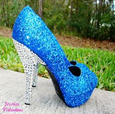 high heels, high heels, high heels, high heels, high heels, high heels, high heels, high heels Sexy High Heel Dress Shoes for Party,Prom, - Blue Glitter Heels