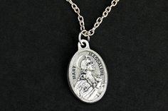 Mary Magdalene Necklace. Christian Necklace. Mary Magdalene Medal Necklace. Catholic Charm Necklace. Christian Jewelry. Religious Necklace. by GatheringCharms from Gathering Charms by Gilliauna. Find it now at http://ift.tt/1SdMgfw!