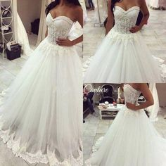 2016 Lace Beaded A Line Beach Country Wedding Dresses Sweetheart Lace Trim Sheer Elegant Bridal Gowns Plus Size Custom Make A Line Wedding Dresses Strapless Best A Line Wedding Dresses From Gaogao8899, $156.03| Dhgate.Com