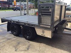 hunting tandem trailer - With dog boxes