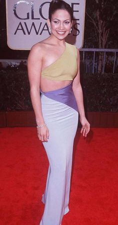 THEN:  Jennifer Lopez in 1998 Golden Globes