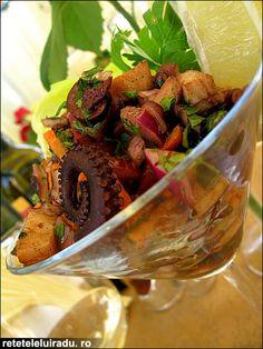 Octopus & olives salad
